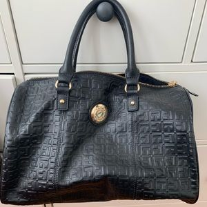 Tommy Hilfiger Leather Embossed Monogram Bag